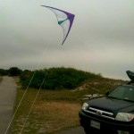 Flying the Prism 3-D in the camp site